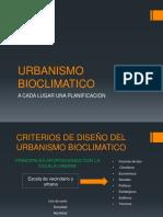 URBANISMO BIOCLIMATICO-ambientales