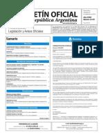 Boletín Oficial de la República Argentina, Número 33.471. 28 de septiembre de 2016