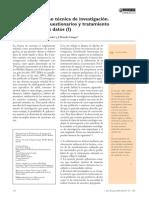 Articulo Sobre La Encuesta Como Metodo de Recolecion de Datos