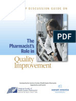 The Role Improvement Pharmacy Practice
