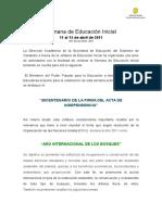 Semana de Educacin Inicial Propuesta Definitiva 2