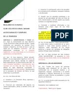Reglamento Nuevo Club 2012