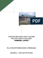 Plan de Estudios Grado Cuarto 2016