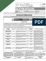 Diario Oficial El Peruano, Edición 9465. 26 de septiembre de 2016