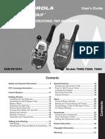 Motorola Talkabout T5500 Manual