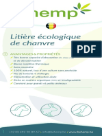 BEhemp Litière écologique de chanvre