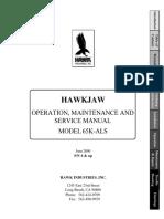 Hawkjaw Jr. Manual 65K-ALS Serial Numbers 4 to 9