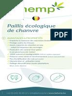 BEhemp Paillis écologique de chanvre