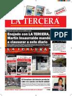 Diario La Tercera 29.09.2016