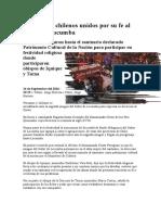 Peruanos y Chilenos Unidos Por Su Fe Al Señor de Locumba