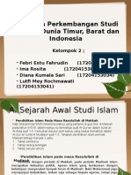 DINAMIKA PERKEMBANGAN STUDI ISLAM DI DUNIA TIMUR, BARAT DAN INDONESIA