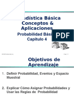 Conceptos Basicos de Probabilidad Cap 4