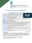 Information on Republic of China Resident Visas
