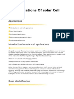 Applications Of solar  Cell2003
