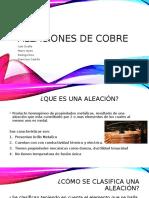 Aleaciones de Cobre(1)