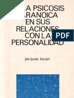 De La Psicosis Paranoica [Jacques Lacan]