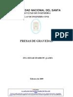 Presas de Gravedad- Ing. Edgar Sparrow Álamo.