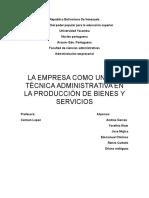 La Administracion Empresarial - TRABAJO