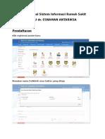 User Manual Sistem Informasi Rumah Sakit