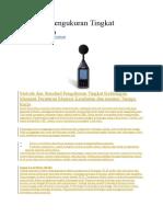 Prosedur Pengukuran Tingkat Kebisingan.doc