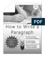 How to Write a Paragraph Updated