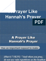 A Prayer Like Hannahs Prayer