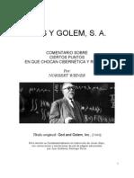 Norbert Wiener -Dios y Golem SA