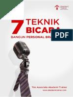 7 Teknik Bicara