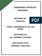 Informe Del Puente