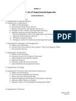 Annex 1 Master List of Departments Agencies