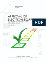 Approval of Electrical Equipment Information Booklet 2014-18 Mac 2015