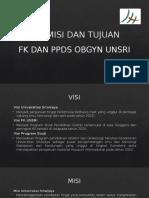 VISI DAN MISI Fk & PPDS Obgyn Unsri