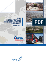 Alcaldia de Quito 2012 Plan Metropolitano de Ordenamiento Territorial 2012 2022