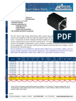 Motor Servo - 34Y Series Spec Sheet