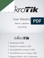Mikrotik Products Presentation