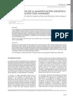 Artículo Desafíos Éticos de La Manipulación Genética y La Investigación Con Animales
