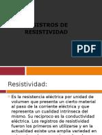 Registros de Resistividad