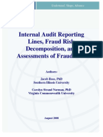 TheIIA 2008 _ Internal Audit Reporting Lines, Fraud Risk Decomposition, And Assessments of Fraud Risk