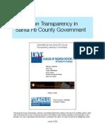 2009 - Transparency Report - Santa Fe League of Women Voters