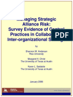 TheIIA 2007 _ Managing Strategic Alliance Risk - Survey Evidence of Control Practices in Collaborative