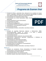 Programa Final Farmaco