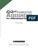 25 Formative Assessments- Dodge 2009