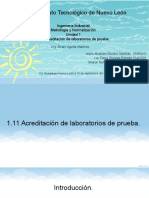 1.11 acreditación de los laboratorios de pruba
