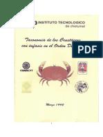 Taxonomia de Los Crustaceos Con Enfasis en El Orden Decapoda