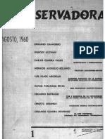 Primera edición de Revista ConservadoraNo. 1 Ago. 1960