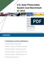 Solar PV Cost Trends to 1Q16 NREL 9-16 Presentation