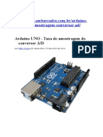 IMPORTANTE_taxa Amostragem Conversor AD Arduino