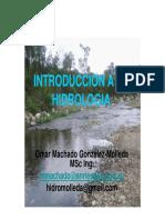 Introduccion a La Hidrologiasgr Machado
