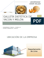 GALLETA Dietética de YACON y Melon