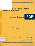 Mechanization and Mexican Labor in California